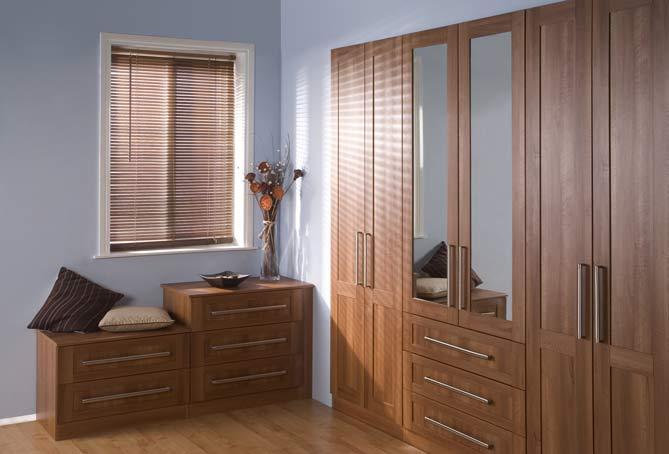 Arcadia Walnut - Door Arcadia Walnut - Wardrobe Set & Woodworkers - Wardrobe Doors